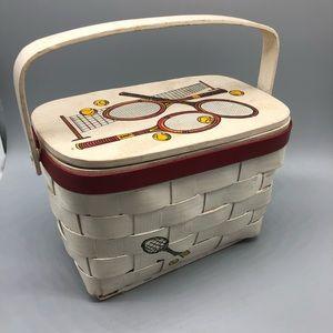 Vintage Caro Nan signed tennis themed basket purse